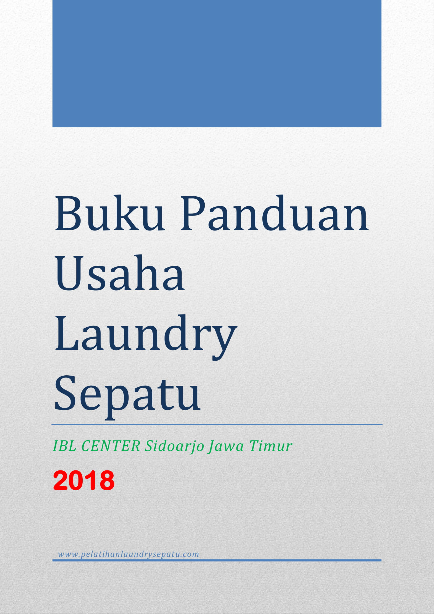 Buku Panduan Usaha Laundry Sepatu